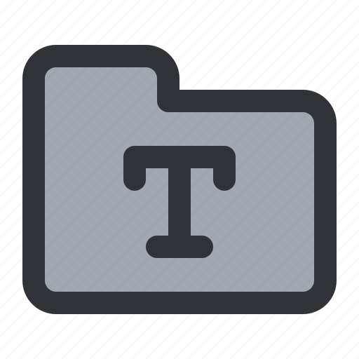 documents, files, folder, font, storage, typography icon