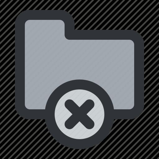 delete, documents, files, folder, remove, storage icon