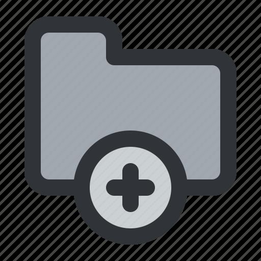 add, documents, files, folder, plus, storage icon