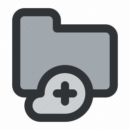 add, cloud, documents, files, folder, storage icon