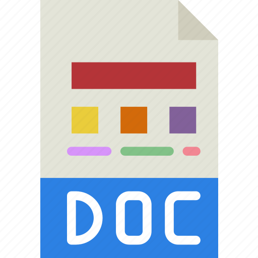 doc, download, extension, file, format, type icon