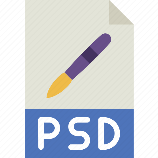 download, extension, file, format, psd, type icon