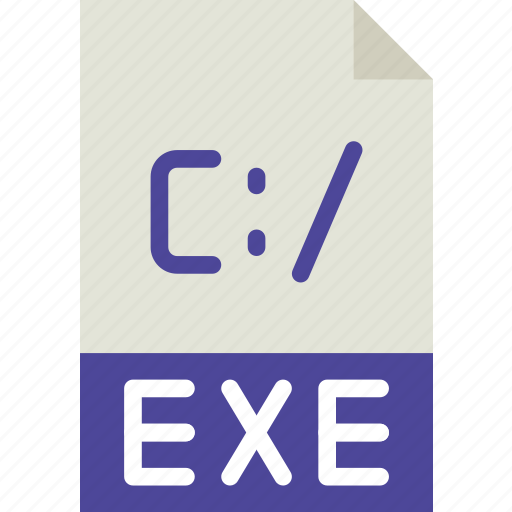 download, exe, extension, file, format, type icon