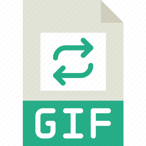 download, extension, format, gif, type icon