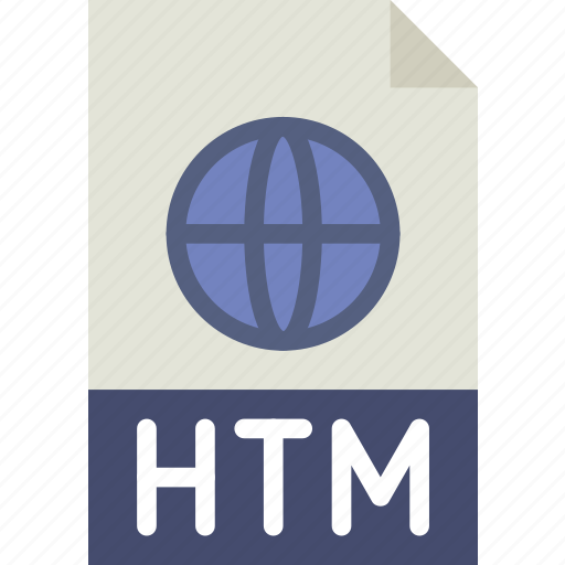 download, extension, file, format, htm, type icon