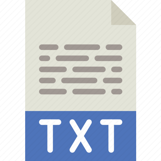 download, extension, file, format, txt, type icon