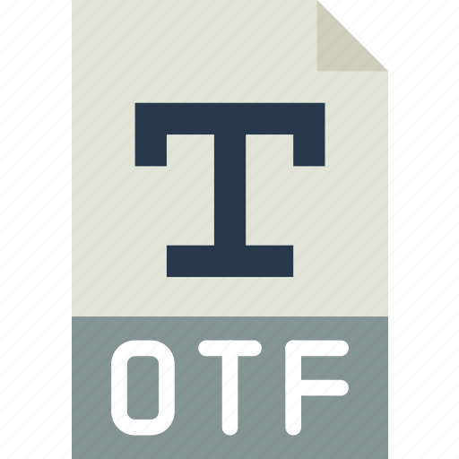 download, extension, file, format, otf, type icon