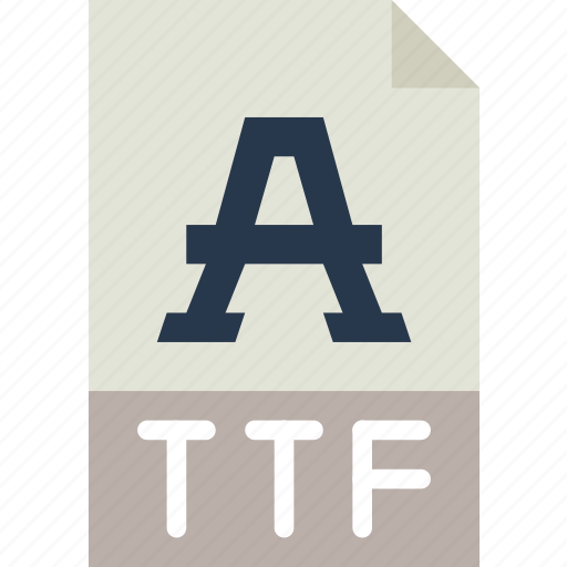 download, extension, file, format, ttf, type icon