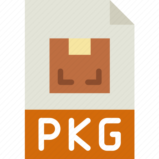 archive, download, extension, format, pkg, type icon
