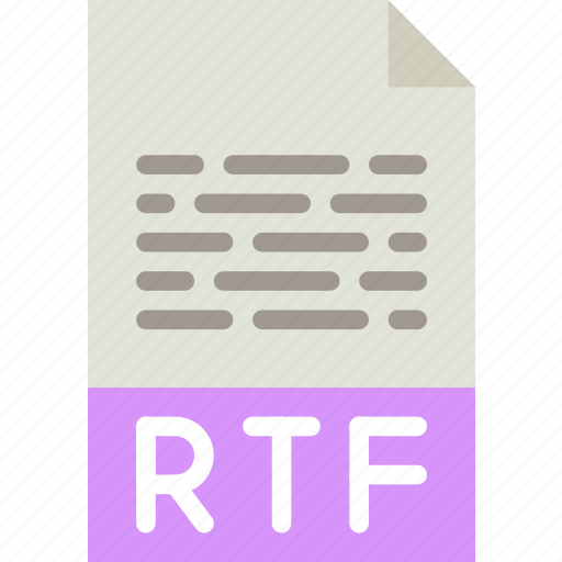 download, extension, file, format, rtf, type icon