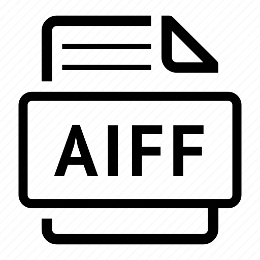 aiff, document, extension, file, file type, format, type icon