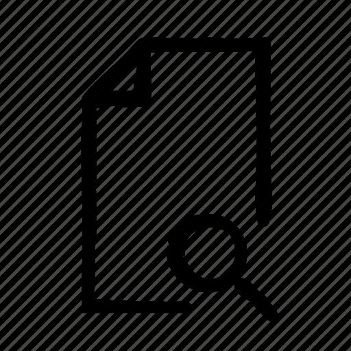document, file, search, spotlight, ui, word icon