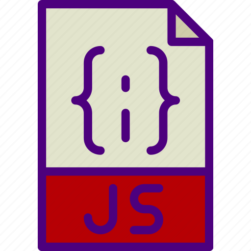 download, extension, file, format, js, type icon