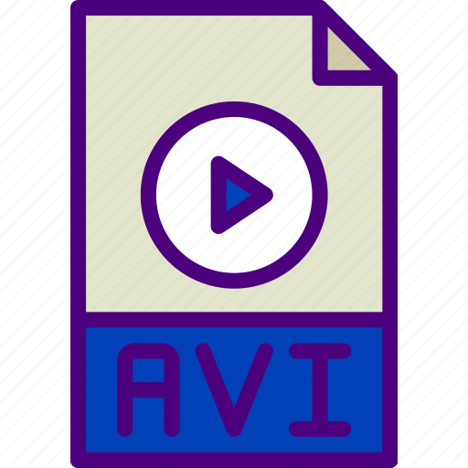 avi, download, extension, file, format, type icon