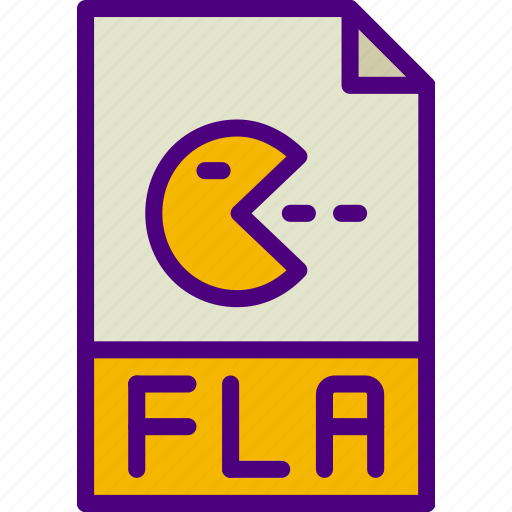 download, extension, file, fla, format, type icon