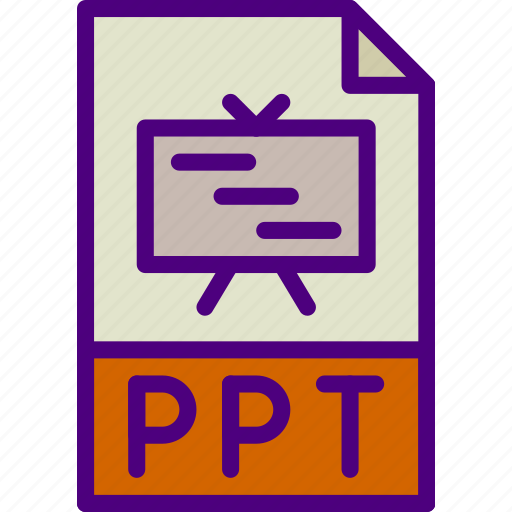download, extension, file, format, ppt, type icon
