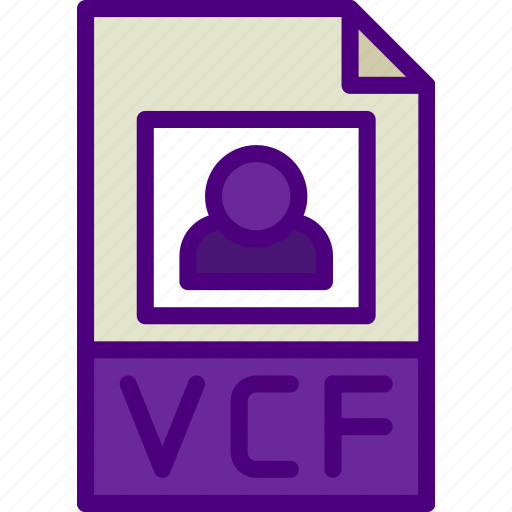 download, extension, file, format, type, vcf icon