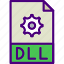 dll, download, extension, file, format, type icon