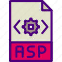 asp, download, extension, file, format, type icon