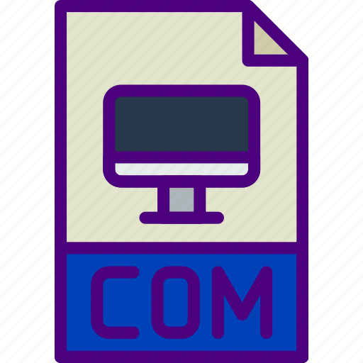 com, download, extension, file, format, type icon