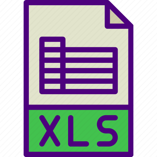 download, extension, file, format, type, xls icon