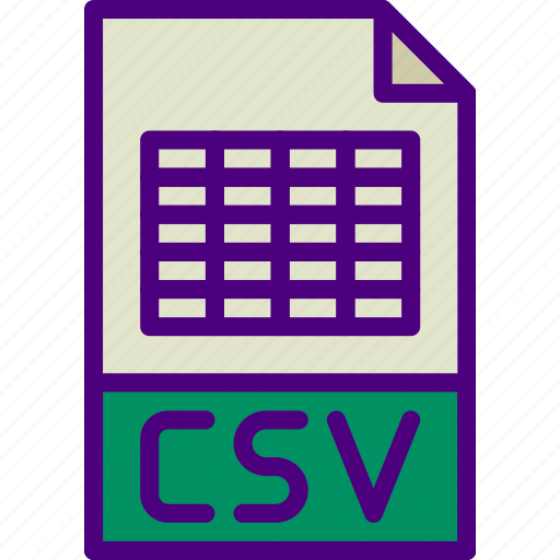 csv, download, extension, file, format, type icon