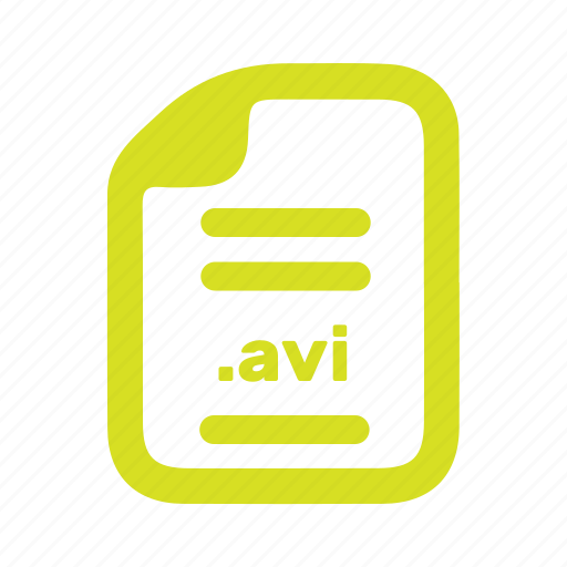 avi, document, file, page icon