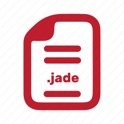 document, file, jade, page, programming icon
