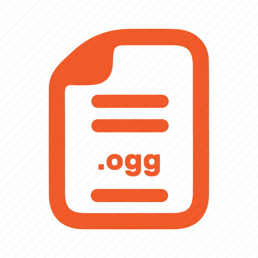 document, file, ogg, page icon