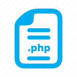 document, file, php, plain icon