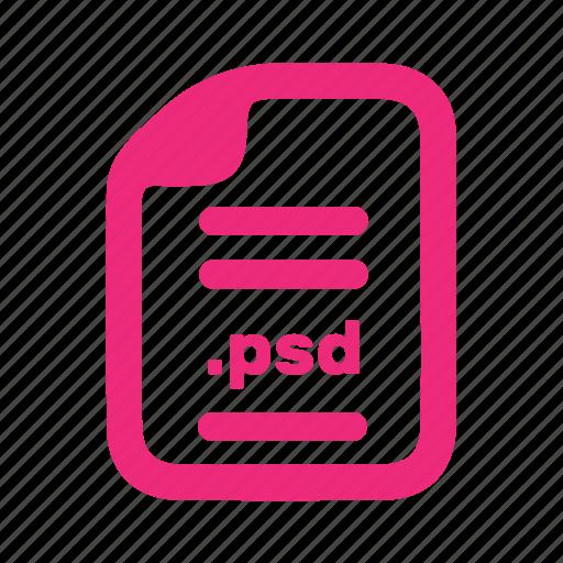 document, file, plain, psd icon