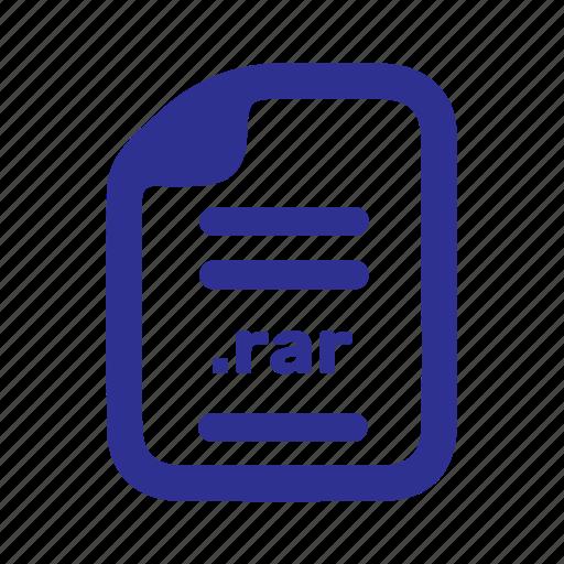 document, file, page, rar icon