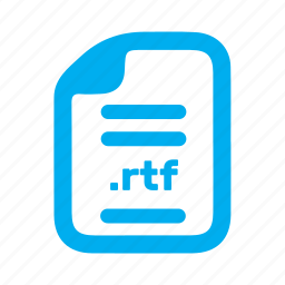 document, file, page, rtf icon