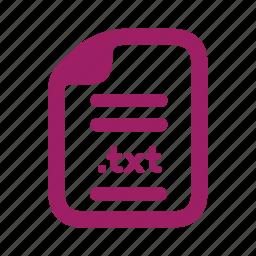 document, file, plain, text icon