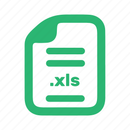 document, file, page, xls icon