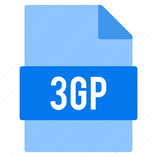 3gp, document, extension, file, types icon