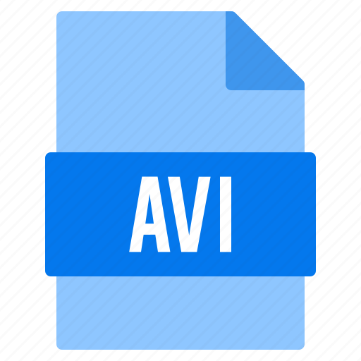 avi, document, extension, file, types icon