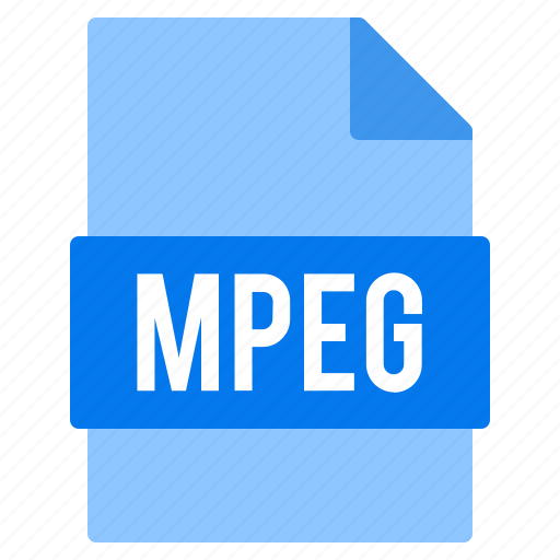 document, extension, file, mpeg, types icon