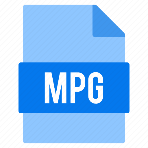 document, extension, file, mpg, types icon