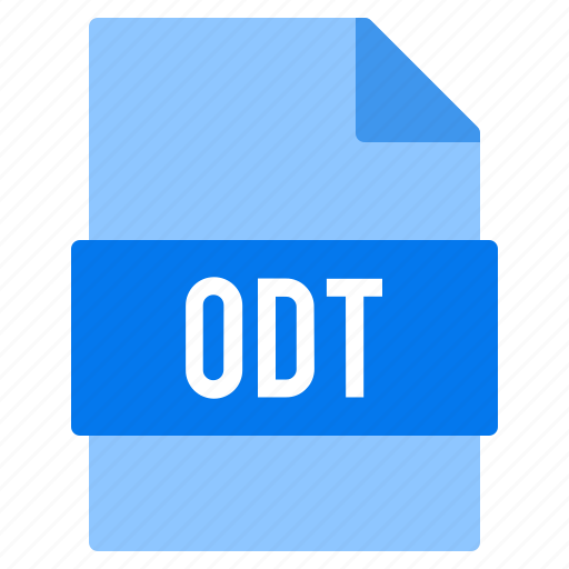 document, extension, file, odt, types icon