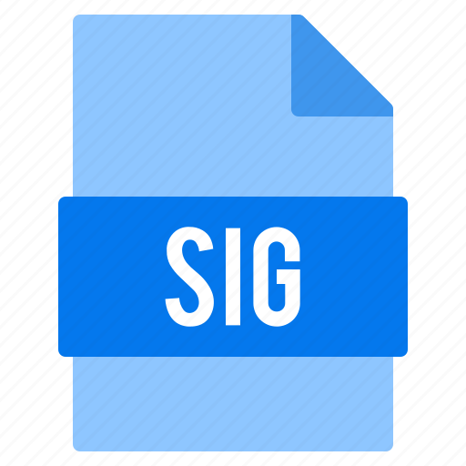 document, extension, file, sig, types icon