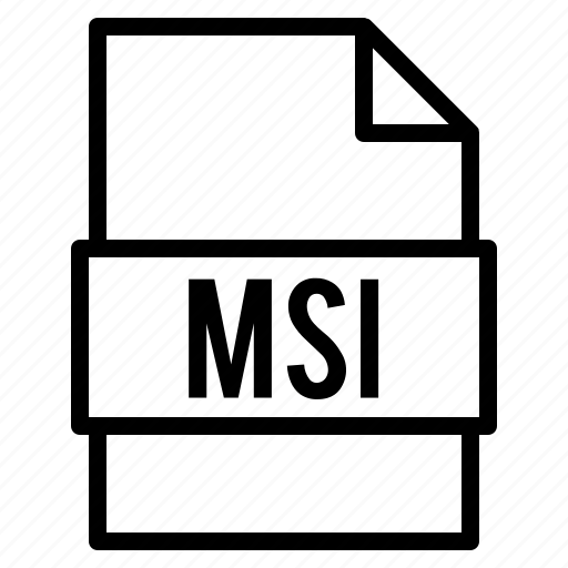 document, extension, file, msi, types icon