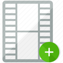 add, file, multimedia, new, plus, video icon