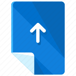 arrow, direction, file, files, up, upload icon