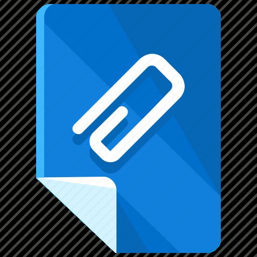 attach, attachment, clip, file, files, paperclip icon