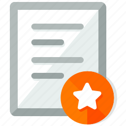 bookmark, document, documents, file, files, paper, star icon