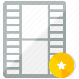 bookmark, files, media, multimedia, star, video icon
