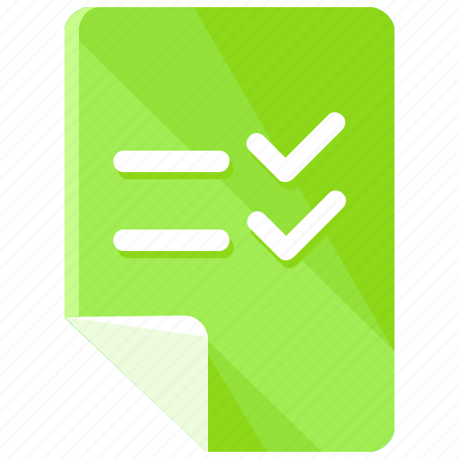 checklist, document, documents, files, list, page icon