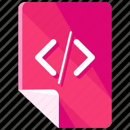 code, coding, files, html, programming, web icon