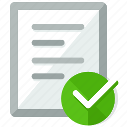 accept, approve, check, confirm, document, files icon